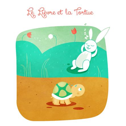 Le lièvre et la tortue | Marie Comont