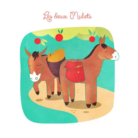 Les Deux Mulets | Jean de La Fontaine