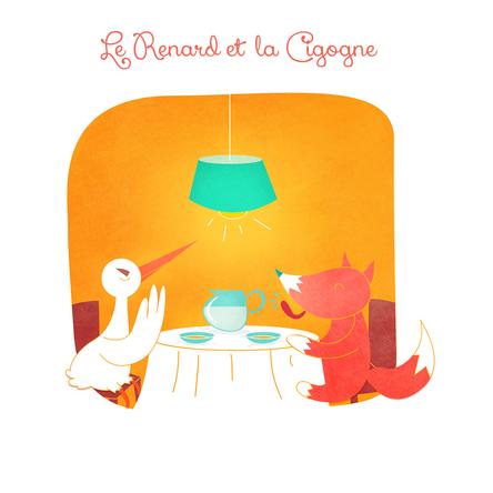 Le Renard et la Cigogne | Marie Comont