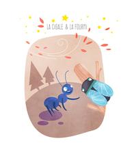 La cigale et la fourmi | Marie Comont